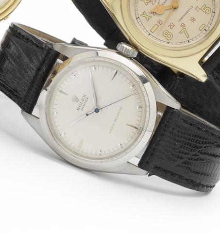 Rolex. A rare stainless steel manual wind wristwatch Oyster, Ref. 6480, Serial No.219470, 1950's