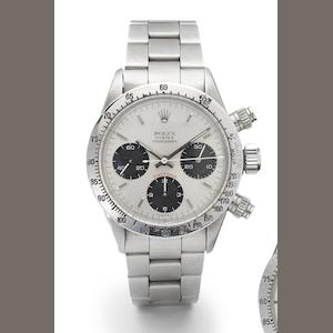 Rolex. A fine and rare stainless steel chronograph wristwatch Cosmograph Daytona, Ref:6265, circa 1969