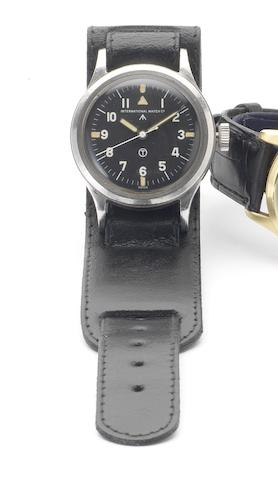 IWC. A rare stainless steel centre seconds Military Issue wristwatchMark XI, Issued in 1952
