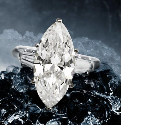 A diamond single-stone ring, by Chaumet