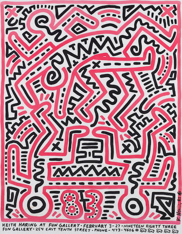 Keith Haring, Poster for Fun Gallery exhibition    1000 - 1200