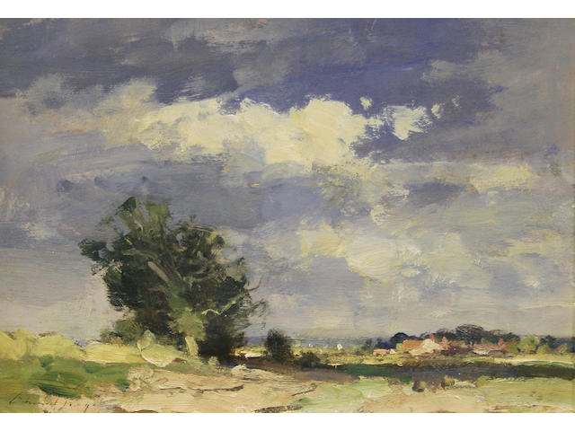Edward Seago R.W.S. (British, 1910-1974) 'Norfolk Landscape - Summer'