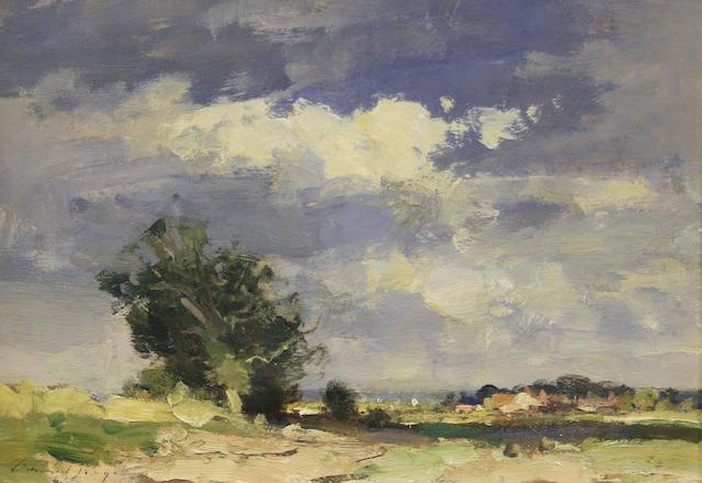 Edward Seago R.W.S. (British, 1910-1974) 'Norfolk Landscape - Summer'