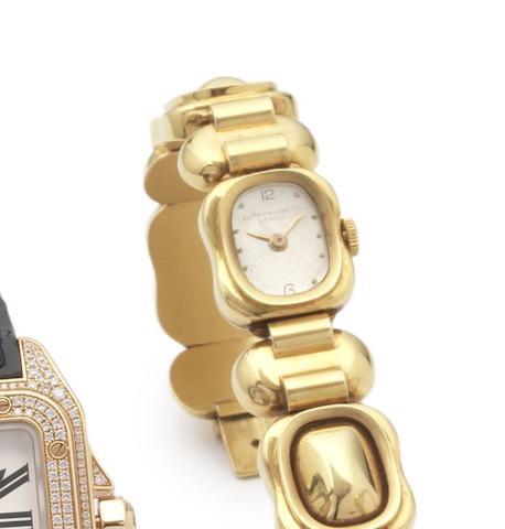 Patek Philippe. A fine and rare 18ct gold lady's manual wind bracelet watch Circa 1960