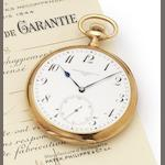 Patek Philippe. A fine early 20th century 18ct gold open face pocket watch Case No.278002, Movement No.173201, circa 1900
