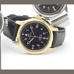 IWC. A fine 18ct gold centre seconds calendar wristwatch Mark XII, Die Fliegeruhr, Ref:3241, 1990's