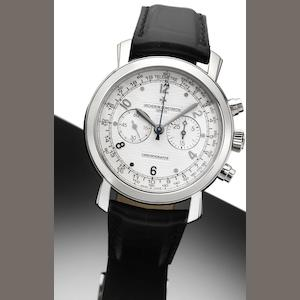 Vacheron Constantin. A fine 18ct white gold manual wind chronograph wristwatch together with fitted presentation box and papersMalte Chronograph, Ref: 47120, Movement No. 130106,  Case No. 1142159, Sold by Wempe 3rd October 2007