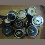A quantity of car clocks and instruments,