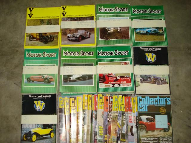 Collectors car magazines,