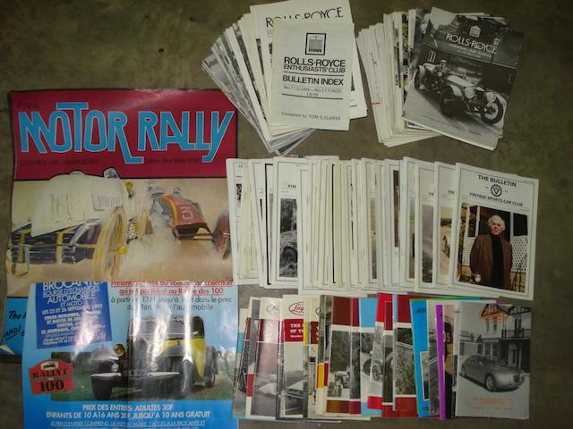 Motor club magazines,