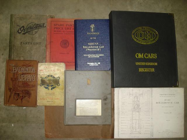 Miscellaneous Motoring Books,