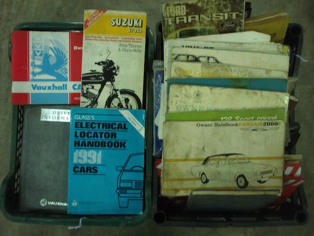 Various car service manuals.