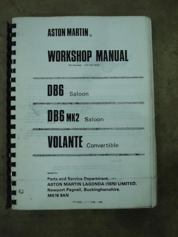 An Aston Martin DB6 Manual.