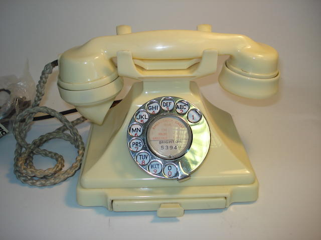 A good 200-series telephone in ivory bakelite