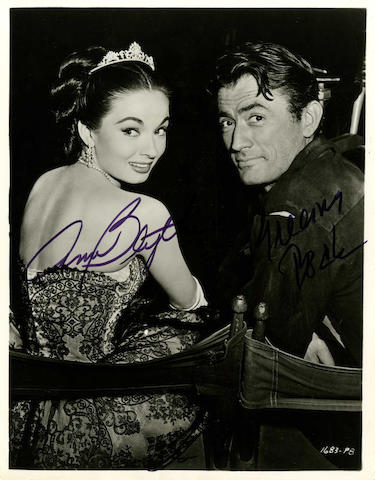 A large collection of autographed publicity stills and postcards, 1940s - 1980s, including: quantity