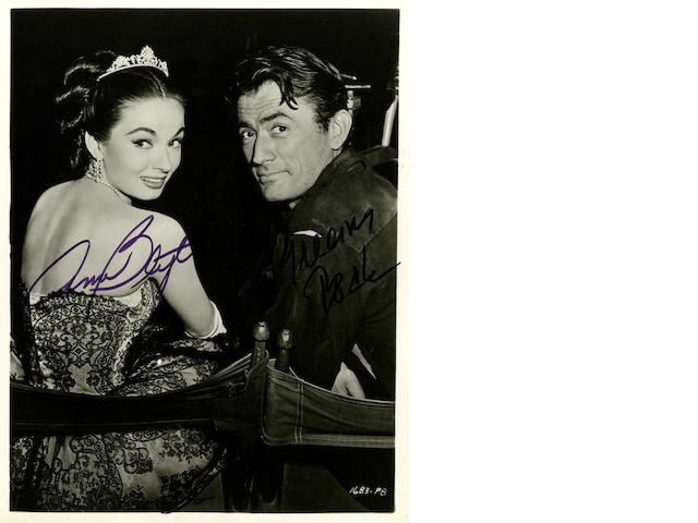 A large collection of autographed publicity stills and postcards,  1940s - 1980s, including:quantity