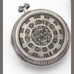 Geron. A continental silver pair cased clock watch Circa 1710