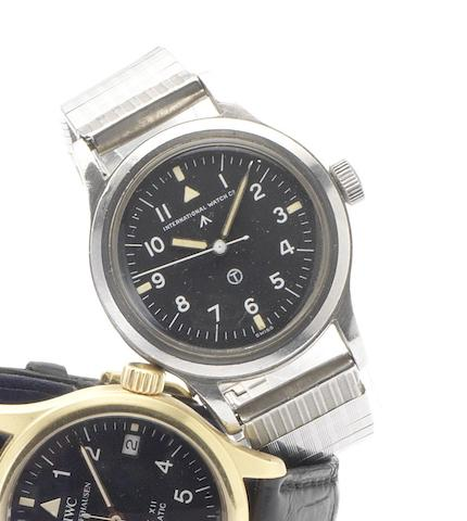 IWC. A stainless steel centre seconds Military Issue wristwatchMark XI, Issued in 1948