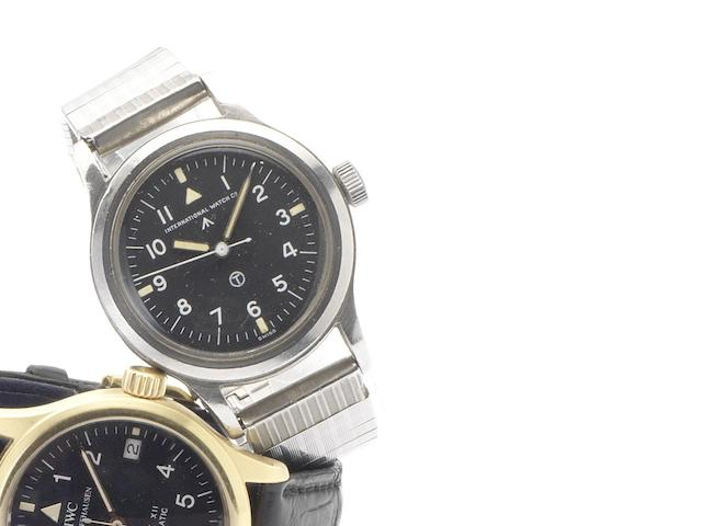 IWC. A stainless steel centre seconds Military Issue wristwatch Mark XI, Issued in 1948