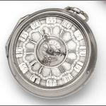 J.Bates, London. A mid 18th century pair case champleve dial pocket watch Movement No.568, circa 1760