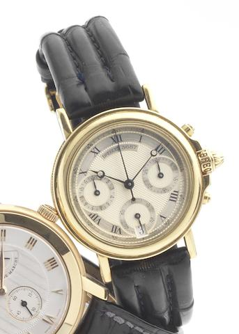 Breguet. A fine mid-sized 18ct gold automatic calendar wristwatch together with presentation box and papersRef:4460BA, Movement No:3687D, Sold December 1994
