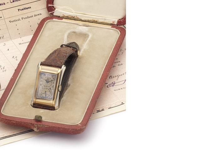 Rolex. A fine and rare 9ct gold manual wind wristwatch with original Prince box and Chronometer Certificate Prince, Case No.64958, Movement No.70584, Glasgow import mark for 1929