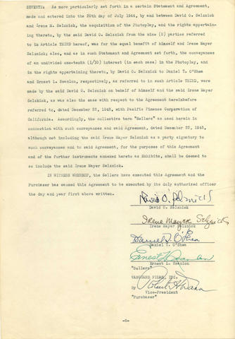 A contract relating to 'Rebecca', 1945,