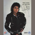 An autographed Michael Jackson 'Bad' programme, Japanese Tour 1987,