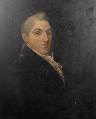 English School, 19th Century Portrait of a gentleman, said to be John Steavenson, Berwick on Tweed