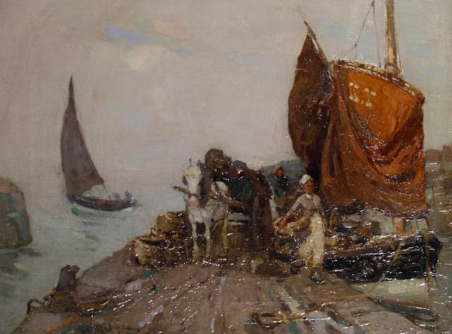 William Watt Milne (British, 1865-1949) St. Monans harbour, Pittenweem