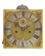 A fine late 17th century walnut, ebony and boxwood parquetry inlaid longcase clock with ten inch dial