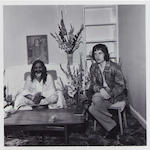 Roll of black and white negatives depicting Mick Jagger and Maharishi Yogi at Bangor in 1967 (taken 29th August) together with 12 prints of the same