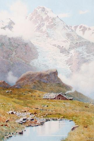 Continental School, late 19th/early 20th Century The Kleiner Scheidegg, Switzerland
