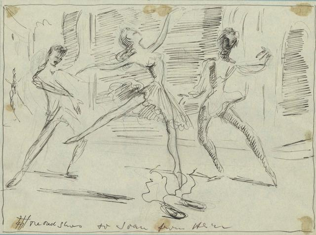 The Red Shoes: A pair of Hein Heckroth production design drawings, dated 1947 (film released 1948),