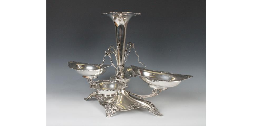 A silver dining-table centrepiece/epergne By Elkington and Co, Birmingham, 1912,