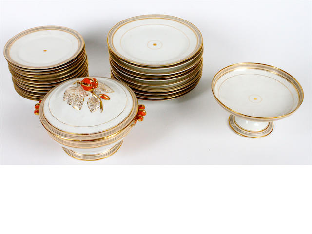 A French porcelain dinner service 19th century