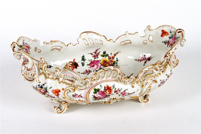 A Dresden centrepiece bowl