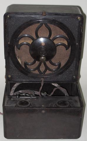 A 'Masterpiece' wireless receiver, by Kolster-Brandes, circa 1930,