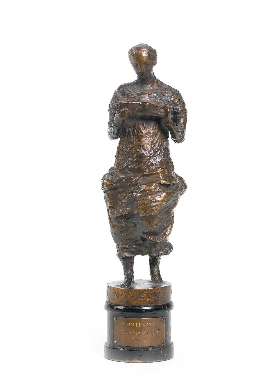 John Lennon: an Ivor Novello award for 'She Loves You',