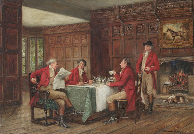 Frank Moss Bennett (British, 1874-1952) The Hunt Breakfast
