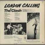 A signed copy of the album 'London Calling' and other items,