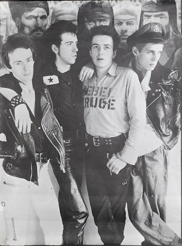 The Russian propaganda poster used as the backdrop for the well-known promo poster of The Clash,