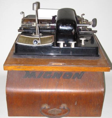 A Mignon typewriter,