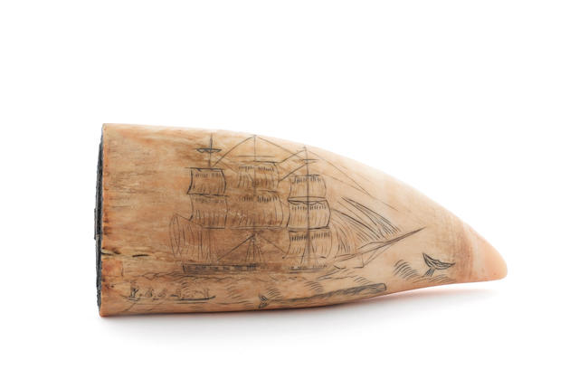 A whaling scrimshaw