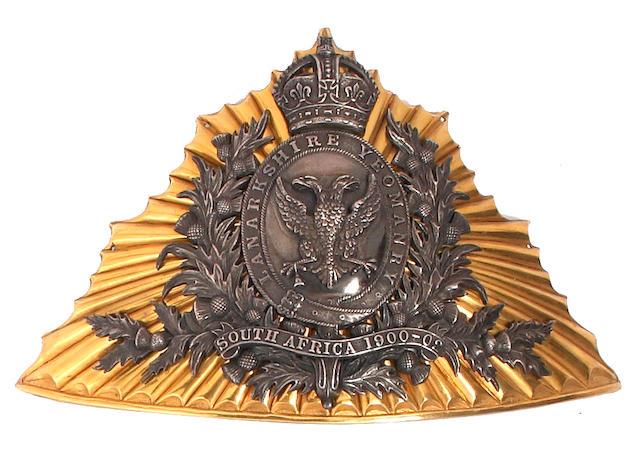 Lanarkshire Yeomanry Officer's Lance Cap Plate