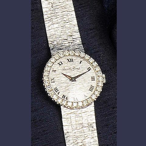 Bueche Girod: A lady's 18ct white gold diamond set wristwatch