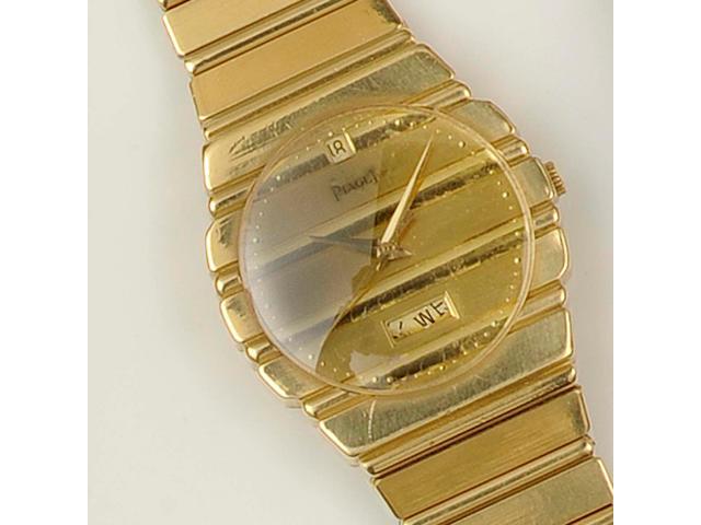 Piaget: An 18ct gold gentleman's wristwatch