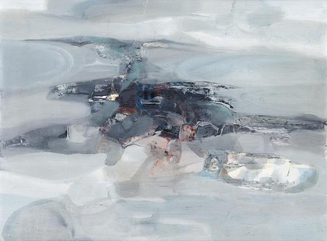 George Campbell R.H.A. (Irish, 1917-1974) Grey Evening, Dog's Bay  46 x 61 cm. (18 x 24 in.)