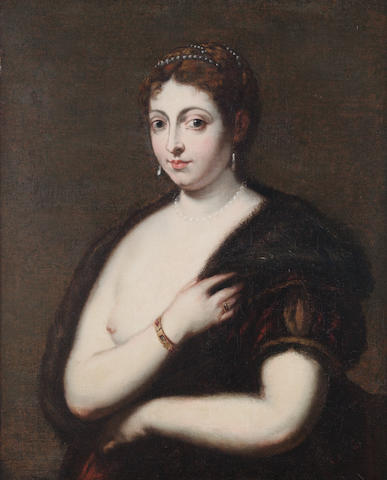 Flemish follower of Titian Portrait of a lady, oil on canvas, 85 x 66 cm