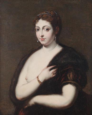 Flemish follower of Titian Portrait of a lady, oil on canvas, 85 x 66 cm